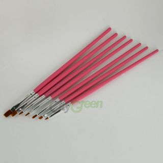 15pcs Nail Art Polish Brush Painting Pen Set Drawing Tool Sable Hair