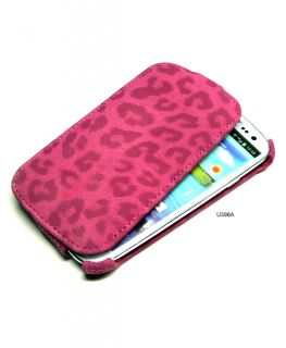 Leopard Style Flip Leather Cover Case for Samsung Galaxy SIII S3 i9300