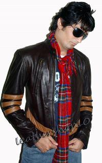 Xman Wolverine Leather Jacket Hugh Jackman Free SHIPPIN