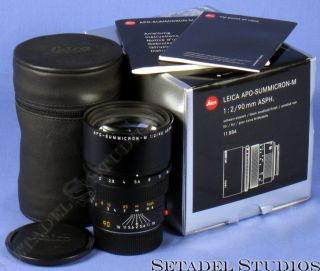 Leica 90mm APO Summicron M F2 ASPH Aspherical M Lens Box Case Mint