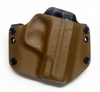 Concealment Holster Smith&Wesson M&P Shield Coyote Brown FBI Cant R.H