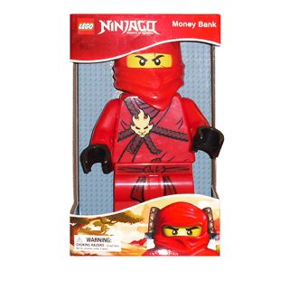 Lego Ninjago Big Red Minifigure Coin Money Bank Collectable Ninja Kai