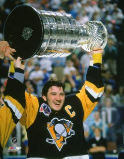 Mario Lemieux Stanley Cup 1992 Pittsburgh Penguins NHL Poster Print