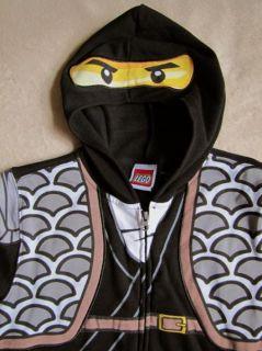 Lego NINJAGO Blk Fleece Zipper Hoodie Sweater Sweatshirt Costume sz 10