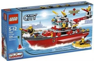 New Lego City Fire Engine Rescue Boat 7207 It Floats