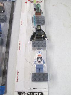 Set of Lego Star Wars Character Magnets Anakin Ahsoka Kit Fisto