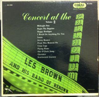Les Brown Concert at The Palladium LP VG CRL 57001 Vinyl 1954 Record
