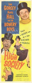 High Society 1955 Leo Gorcey Bowery Boys Amanda Blake Insert VFN