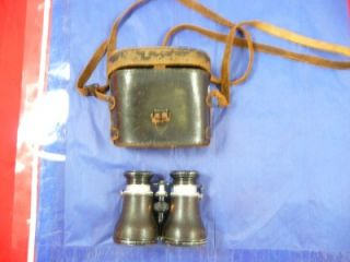 Lemaire Fab Binoculars French Galalean Opera French Old WWII Era RARE