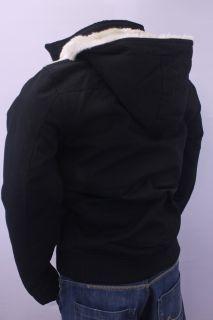 Guess Leon Hooded Jacket Lined Warm Bomber Jacket Black M L XL