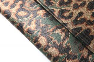 Gold Leopards Oversized Pig Large Clutch Shoulder Purse Evening Bag