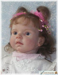 give Leontyne high quality blue crystal glass eyes   handmade in