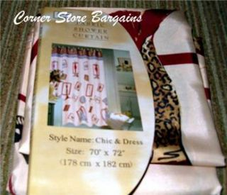 Chic Dress Leopard Zebra Print Shower Curtain Purse High Heels Hat