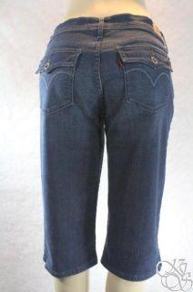 Levis Jeans 515 Skimmer Petite Mid Rise Womens Denim Capris