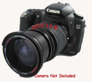 Wide Angle Lens for Canon EOS Digital Rebel XT XTi 400D 550D 600D T3i