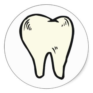 Tooth Teeth ~ Dental Dentist Hygienist Round Sticker