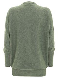 Mint Velvet Moss green batwing knitted tunic Green