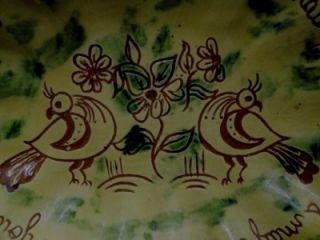 Lester Breininger 1981 Pennsyvania Dutch German Pottery Floral Birds