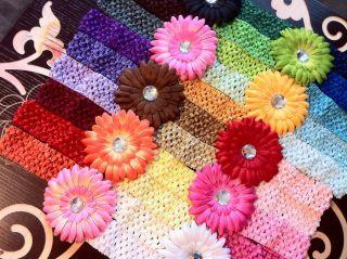 Grosgrain Ribbon Gerber Daisy Hair Flower Clip Bow Baby