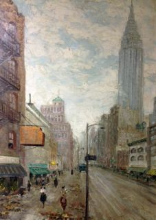 Leon Dolice B1892 American NYC Empire State Listed Best Painting Ever