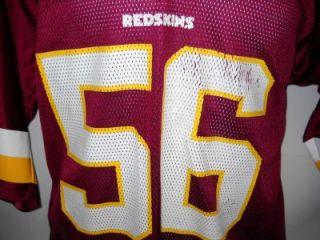 Old School 56 LeVar Arrington Large Red Washington Redskins Reebok NFL