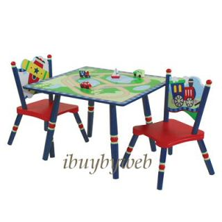 Levels of Discovery Kids Gettin Around Table 2 Chairs Set Train Plane