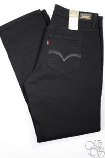 Levis Jeans 512 Perfectly Shaping Straight Leg Black Denim Plus Size