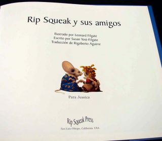 Leonard Filgate, Childrens Book in Spanish Rip Squeak y sus Amigos L