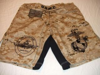 USMC Marines Force Recon Desert MARPAT MMA PT Board Shorts Fight
