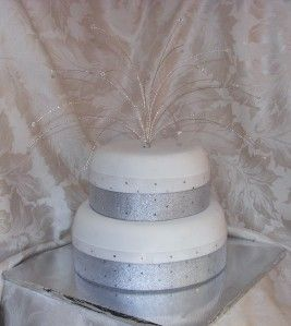 Crystal Fountain Cake Topper Wedding Anniversary Birthday