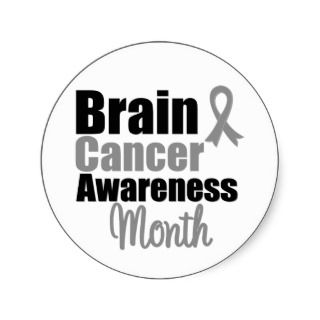 Brain Cancer Awareness Month Ribbon Stickers