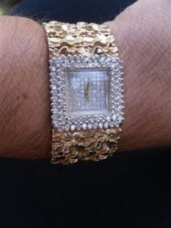 Liberaces Personal Favorite Nugget Gold Diamond Watch