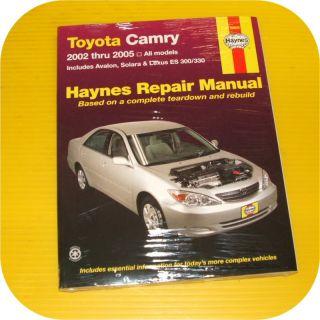 to enlargeRepair Manual Book Toyota Camry Avalon Lexus ES 300 330