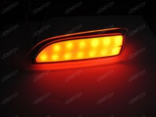 Clear Lens LED Bumper Reflectors as Lexus CT200H Toyota Taillight