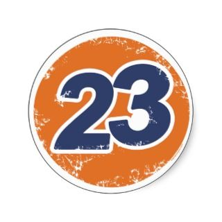 Number 23 Logo Round Sticker