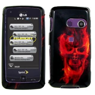 For LG Rumor ouch Fire Skeleon Phone Case Cover N