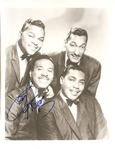 D2008 The Four Tops Signed Levi Stubbs Baby I Need Your Loving