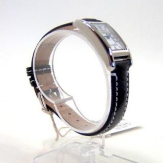 Womens Black Leather Stainless Steel Lexington Watch 14501077 NWT $358