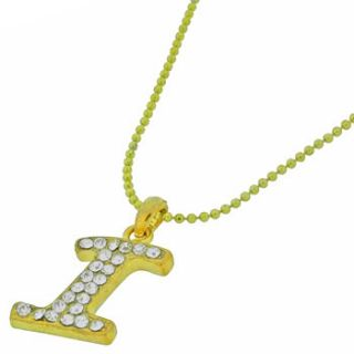 Crystal Diamante Initial Letter Alphabet Personalised Necklace Pendant
