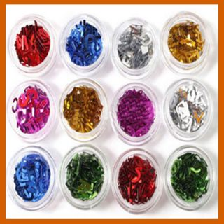 1500 Plastic English Letter Makeup UV Acrylic System Nail Art