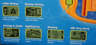 writer spaces 26 letter buttons lcd screen activity selector includes