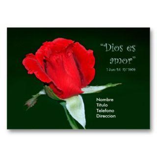Dios es Amor Tarjeta de Visita Business Card