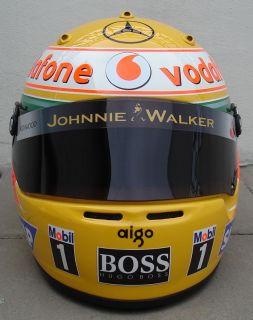 LEWIS HAMILTON 2008    Replica Helmet 11 Scale    ORIGINAL ARAI GP5
