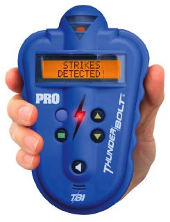 New Thunderbolt Storm Chasing Lightning Detector Blue