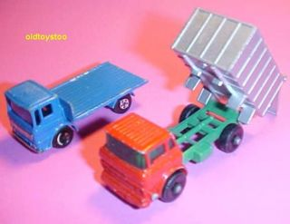 Matchbox Lesney GMC Dump Leyland Trucks 1968