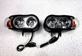 Snow Plow Lights Pair Super Bright Quad Halogen Universal Fits Most