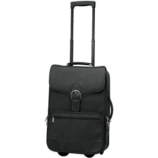 Black Leather Rolling Upright Carry on Bag Luggage $340