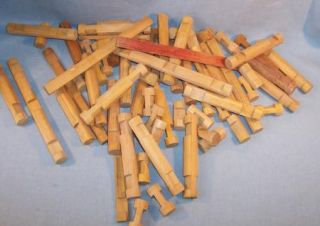 Vintage Box Lincoln Logs 66 Pcs Pioneer Set Add on Pcs