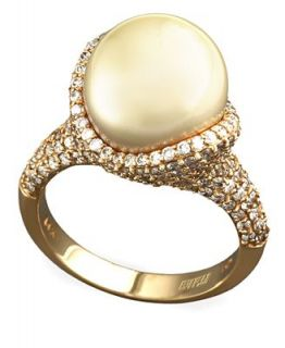 EFFY Collection 14k Gold Ring, Cultured Golden South Sea and Diamond