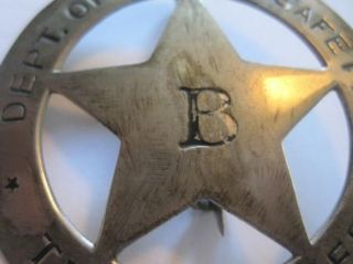 Old Texas Rangers Badge Dept of Public Safety B